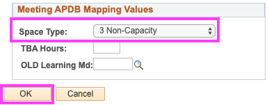 Meeting APDB Mapping Values