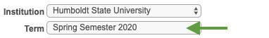Select semester