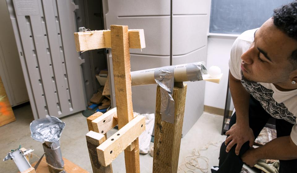 A Student Builds a Rube Goldberg Machine